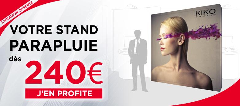 Stand parapluie tissu dès 240 € chez Mister Expo